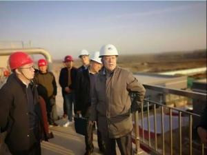 市水务局王俊副局长督导检查第八污水处理厂提标改造工程进展情况