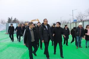 副市长杨广亭调研西南郊水厂(一期)配水干线工程建设