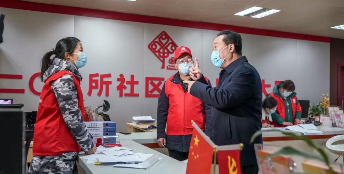 王浩到雁塔区高新区检查社区和企业疫情防控工作