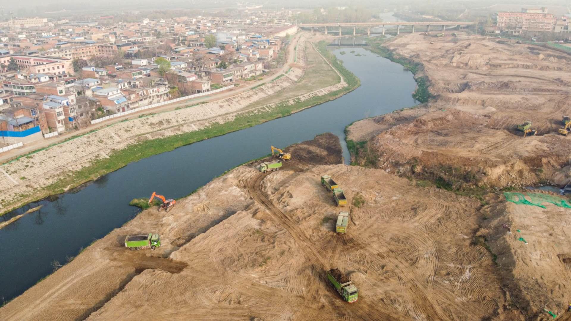 加快推进全域治水碧水兴城 为市民创造良好生态环境 王浩检查督导沣河氵皂河潏河治理工程建设